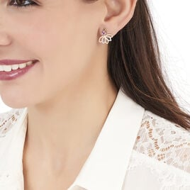 Bijoux D'oreilles Or Rose Fleur - Ear cuffs Femme | Histoire d'Or