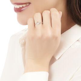 Bague Fidelia Or Blanc Diamant - Bagues avec pierre Femme | Histoire d'Or