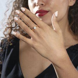 Bague Solitaire Fiona Or Jaune Diamant Synthetique - Bagues solitaires Femme   Histoire d'Or