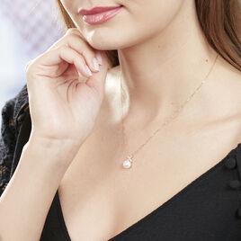 Collier Norah Or Jaune Perle De Culture Et Oxyde De Zirconium - Bijoux Femme | Histoire d'Or