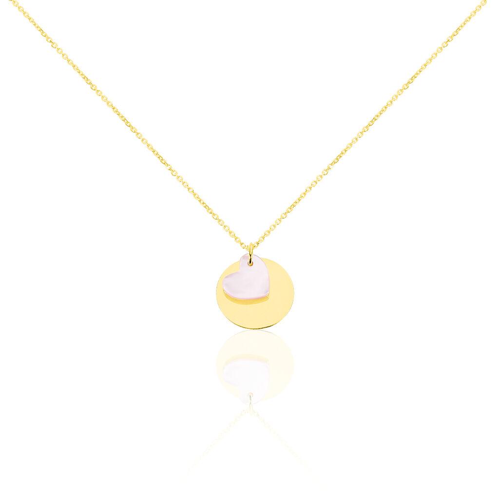 Collier Cleomelia Pastille Or Jaune - Colliers Coeur Enfant   Histoire d'Or