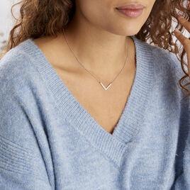 Collier Argent Blanc  Lakia - Colliers fantaisie Femme | Histoire d'Or