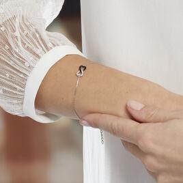 Bracelet Argent Marcella Coeur Et Oxyde - Bracelets Coeur Femme | Histoire d'Or