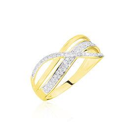 Bague Emilie Or Jaune Diamant - Bagues avec pierre Femme   Histoire d'Or