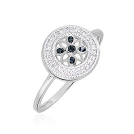 Bague Elfidiane Or Blanc Diamant - Bagues avec pierre Femme   Histoire d'Or