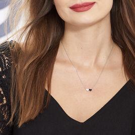 Collier Clementine Argent Blanc Oxyde De Zirconium - Colliers Coeur Femme | Histoire d'Or