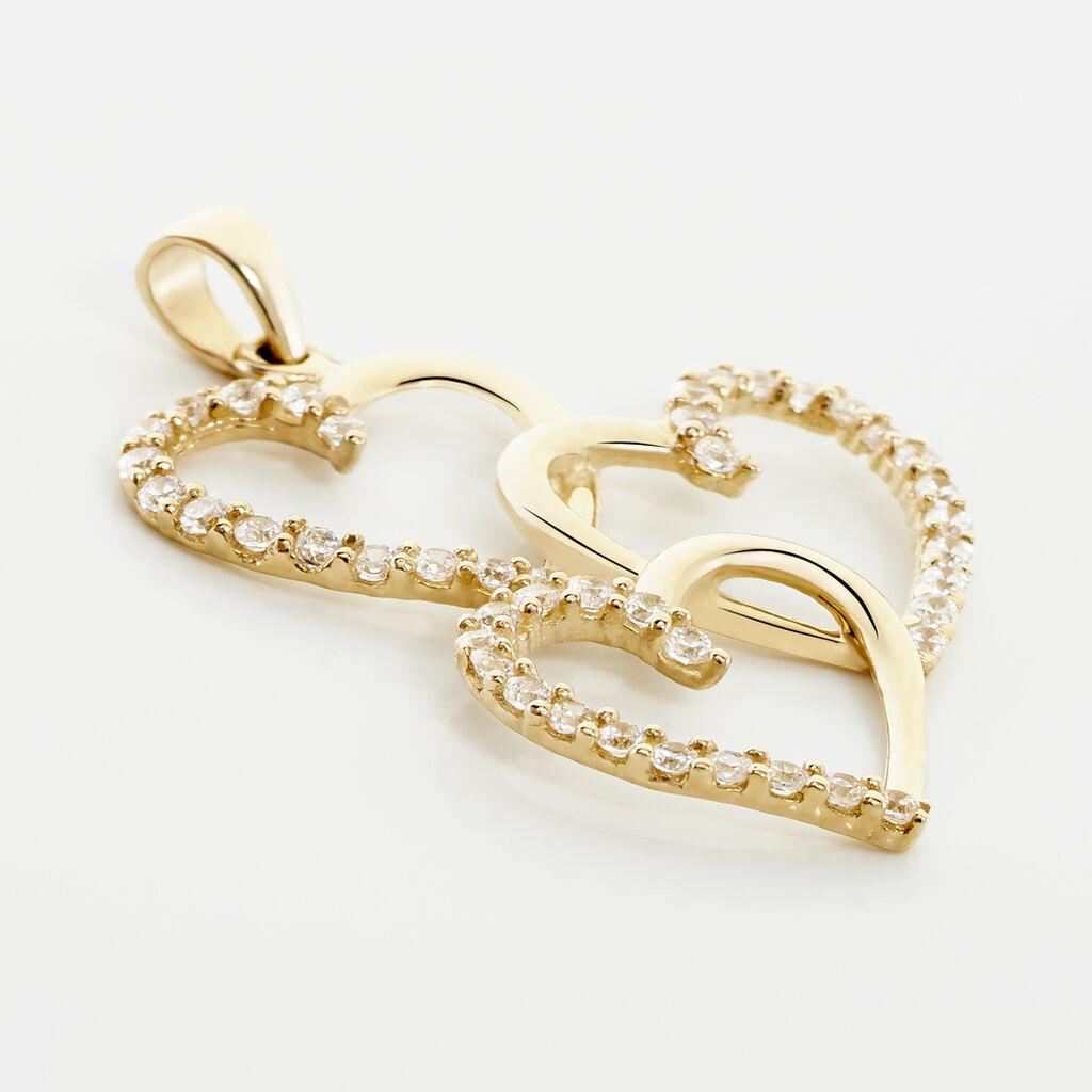 Pendentif Lovely Or Jaune Oxyde De Zirconium - Pendentifs Coeur Femme | Histoire d'Or