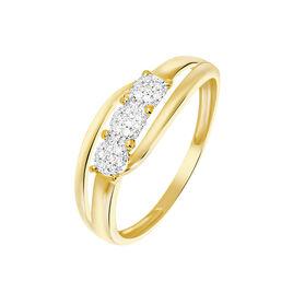 Bague Nolan Or Jaune Diamant - Bagues avec pierre Femme | Histoire d'Or