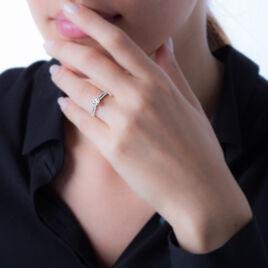 Bague Solitaire Marie-lou Argent Blanc Oxyde De Zirconium - Bagues solitaires Femme   Histoire d'Or