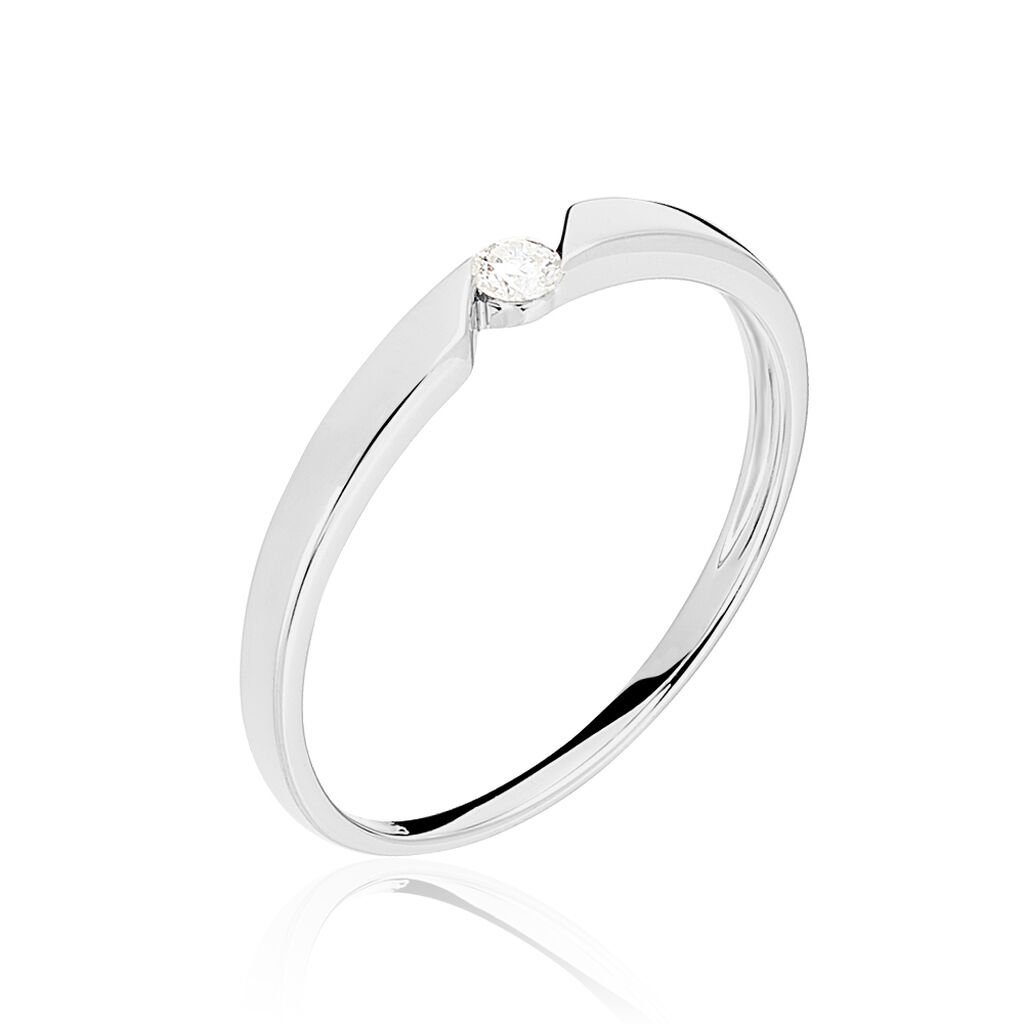 Bague Solitaire Anilie Or Blanc Diamant