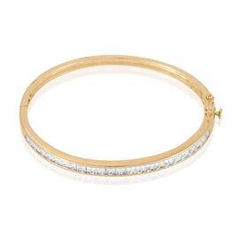 Bracelet Jonc Frieda Plaque Or Jaune Oxyde De Zirconium - Bracelets joncs Femme | Histoire d'Or