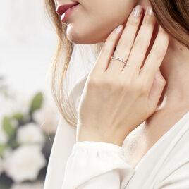 Bague Olena Or Blanc Diamant - Bagues avec pierre Femme | Histoire d'Or