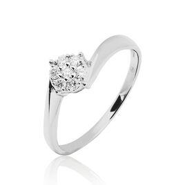 Bague Solitaire Soultana Or Blanc Diamant - Bagues solitaires Femme | Histoire d'Or