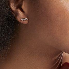 Bijoux D'oreilles Edma Or Rose Oxyde De Zirconium - Ear cuffs Femme   Histoire d'Or