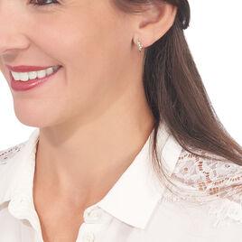 Boucles D'oreilles Puces Caline Or Jaune Diamant - Boucles d'Oreilles Plume Femme | Histoire d'Or