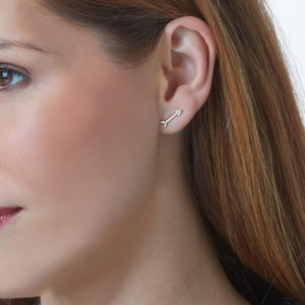 Bijoux D'oreilles Yaeleae Or Jaune Oxyde De Zirconium - Ear cuffs Femme | Histoire d'Or