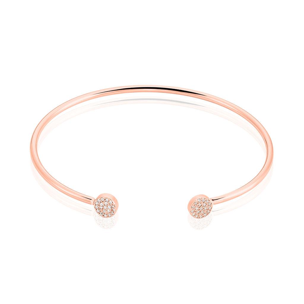 Bracelet Jonc Astrid Argent Rose Oxyde De Zirconium - Bracelets fantaisie Femme | Histoire d'Or