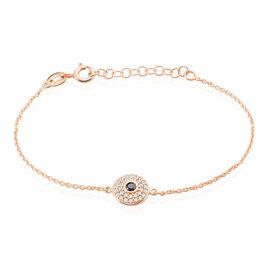 Bracelet Ballia Argent Rose Oxyde De Zirconium - Bracelets fantaisie Femme   Histoire d'Or
