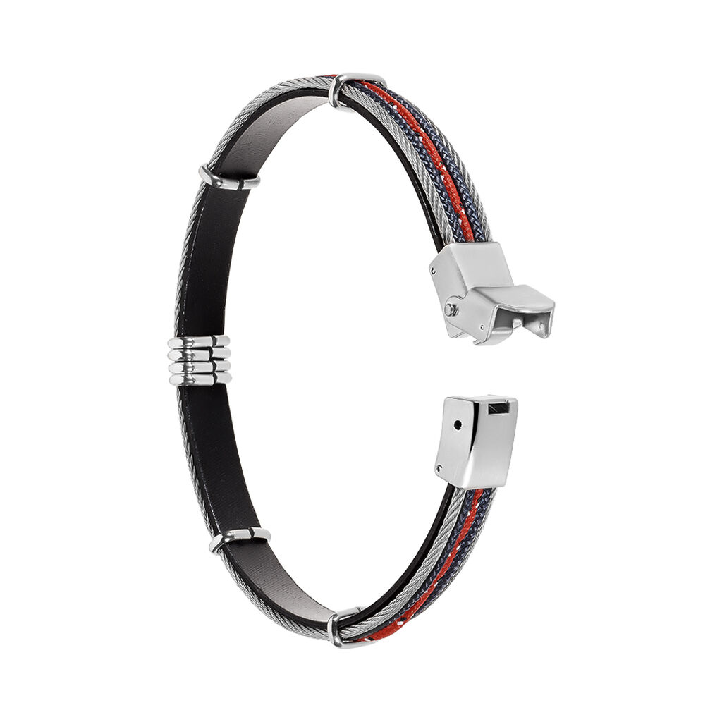 Bracelet Erick Acier Blanc - Bracelets cordon Homme | Histoire d'Or