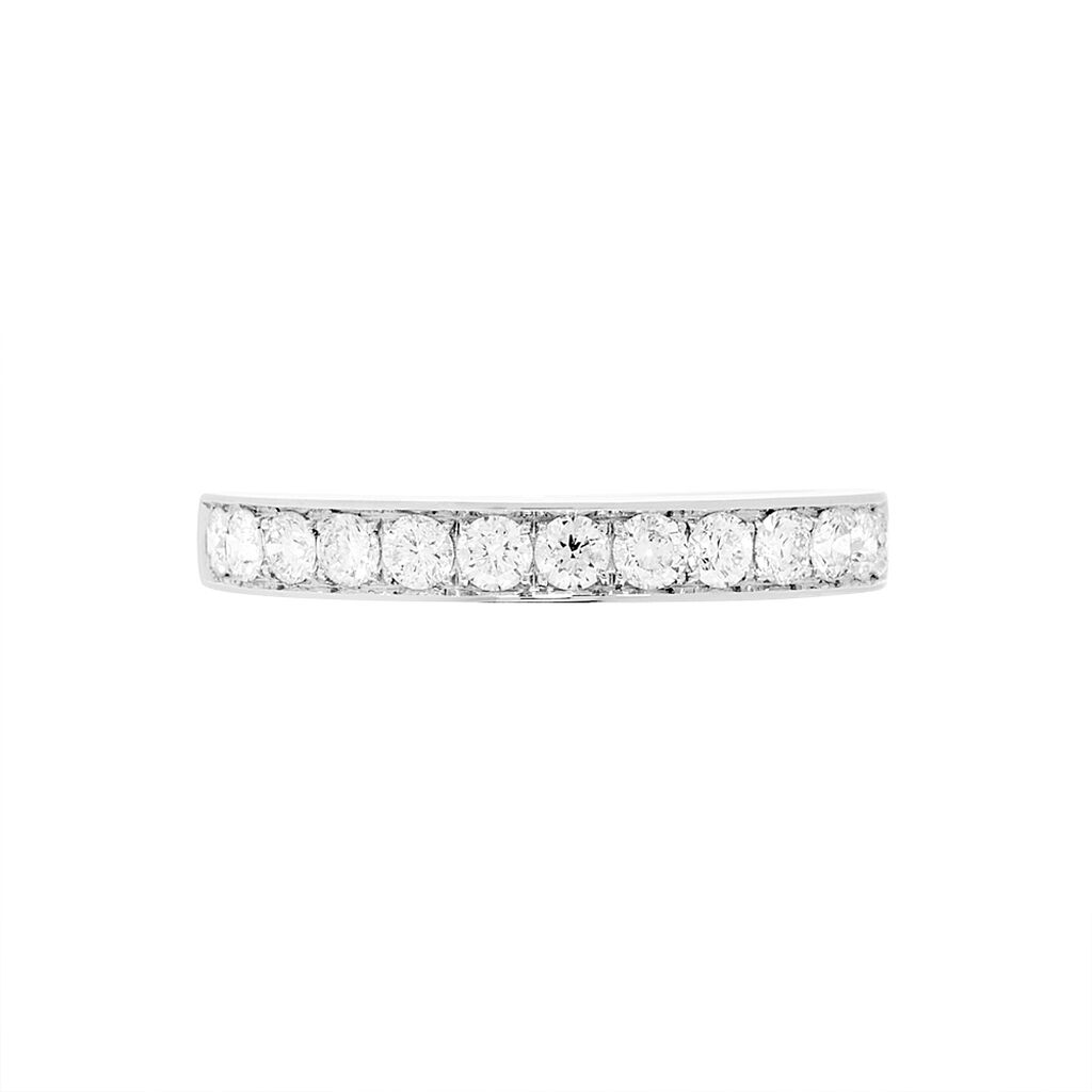 Alliance Pristina Or Blanc Diamant - Alliances Femme | Histoire d'Or