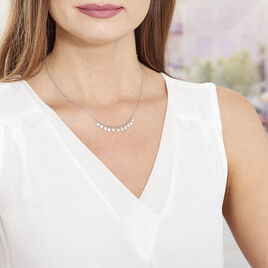 Collier Savahna Argent Blanc - Colliers fantaisie Femme | Histoire d'Or