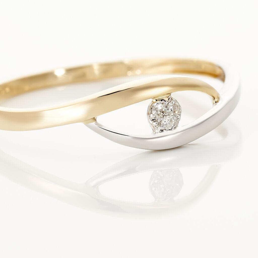 Bague Nohane Or Bicolore Diamant - Bagues solitaires Femme | Histoire d'Or
