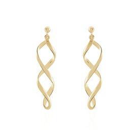 Boucles D'oreilles Pendantes Indi Plaque Or Jaune - Boucles d'oreilles fantaisie Femme | Histoire d'Or
