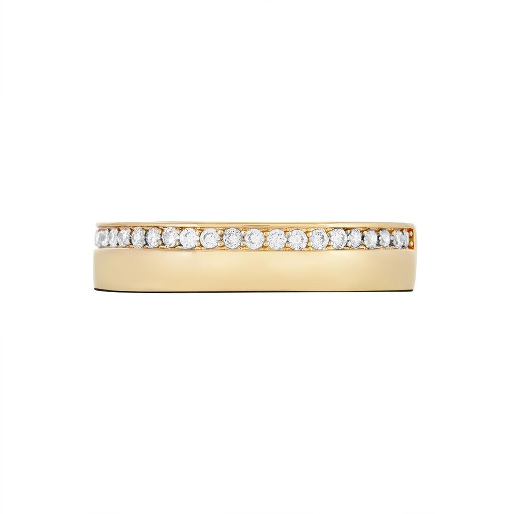 Bague Nathy Plaque Or Jaune Oxyde De Zirconium - Bagues avec pierre Femme   Histoire d'Or