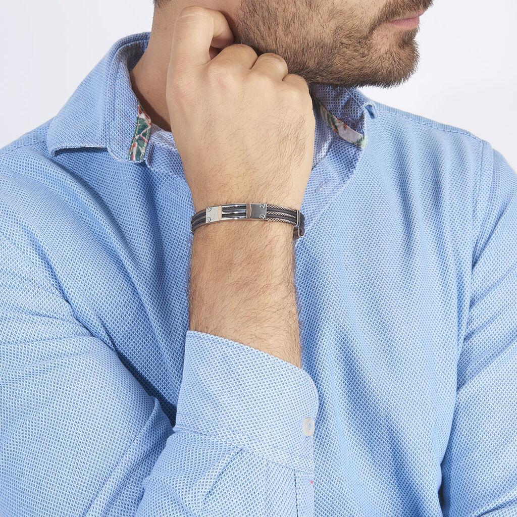 Bracelet Leonilde Or Acier Bicolore - Bijoux Homme | Histoire d'Or