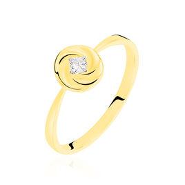 Bague Solitaire Ofealia Or Jaune Diamant - Bagues avec pierre Femme   Histoire d'Or