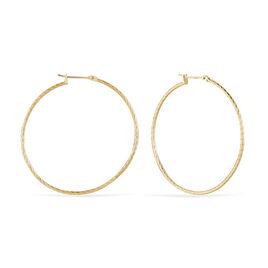 Créoles Anusha Plaque Or Jaune - Boucles d'oreilles créoles Femme | Histoire d'Or