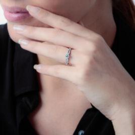 Bague Solitaire Katalina Or Blanc Diamant - Bagues avec pierre Femme   Histoire d'Or
