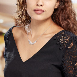 Collier Laetizia Party Argent Blanc Oxyde De Zirconium - Colliers Plume Femme | Histoire d'Or