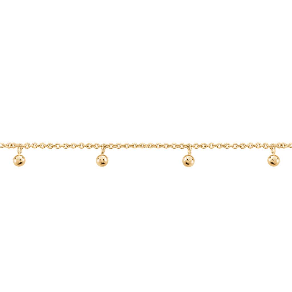 Chaîne De Cheville Leao Plaque Or Jaune - Chaînes de cheville Femme   Histoire d'Or