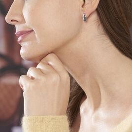 Boucles D'oreilles Puces Oia Or Blanc Diamant - Clous d'oreilles Femme   Histoire d'Or