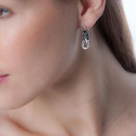 Boucles D'oreilles Argent - Boucles d'oreilles pendantes Femme   Histoire d'Or