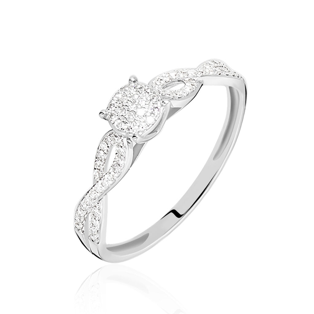 Bague Roseline Or Blanc Diamant