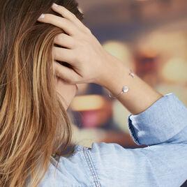 Bracelet Jonc Nathalina Argent Blanc Oxyde De Zirconium - Bracelets Lune Femme   Histoire d'Or