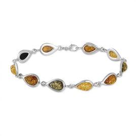 Bracelet Dallal Argent Blanc Ambre - Bijoux Femme   Histoire d'Or