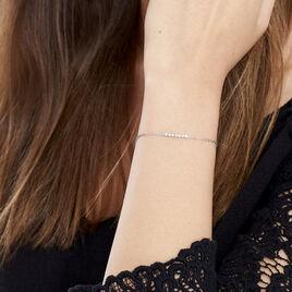 Bracelet Aryles Argent Blanc Oxyde De Zirconium - Bracelets fantaisie Femme | Histoire d'Or