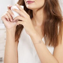 Bracelet Pelagia Argent Rose Oxyde De Zirconium - Bracelets fantaisie Femme | Histoire d'Or