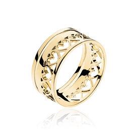 Bague Thaissia Plaque Or Jaune - Bagues Coeur Femme   Histoire d'Or