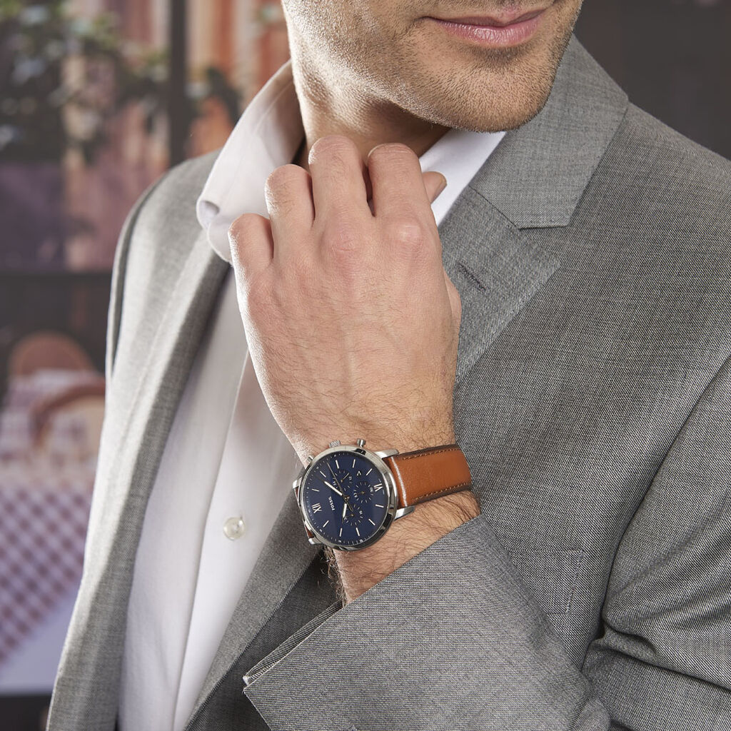 Montre Fossil Neutra Chrono Bleu - Montres sport Homme   Histoire d'Or