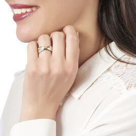 Bague Andrette Or Bicolore Diamant - Bagues avec pierre Femme   Histoire d'Or