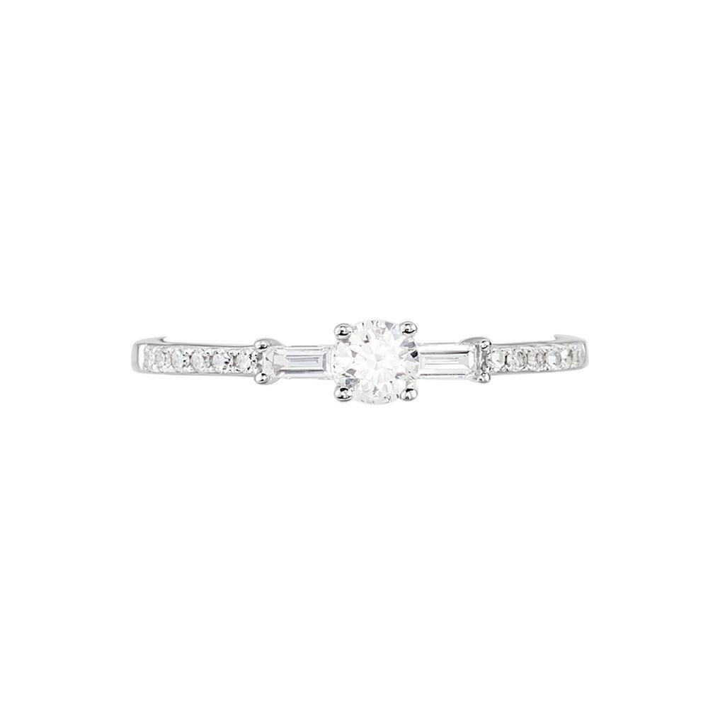 Bague Solitaire Nina Or Blanc Diamant - Bagues avec pierre Femme | Histoire d'Or