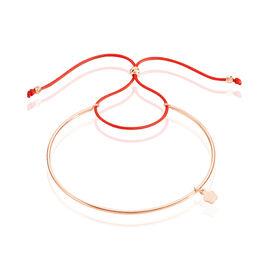 Bracelet Jonc Live Argent Rose - Bracelets cordon Femme   Histoire d'Or