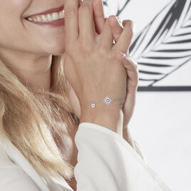 Bracelet Bekhta Or Blanc Oxyde De Zirconium - Bijoux Etoile Femme | Histoire d'Or