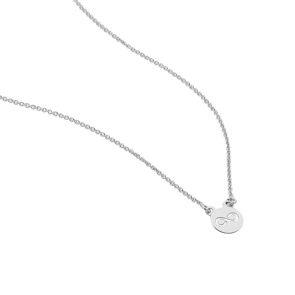 Collier Shereen Argent Blanc - Colliers Infini Femme | Histoire d'Or
