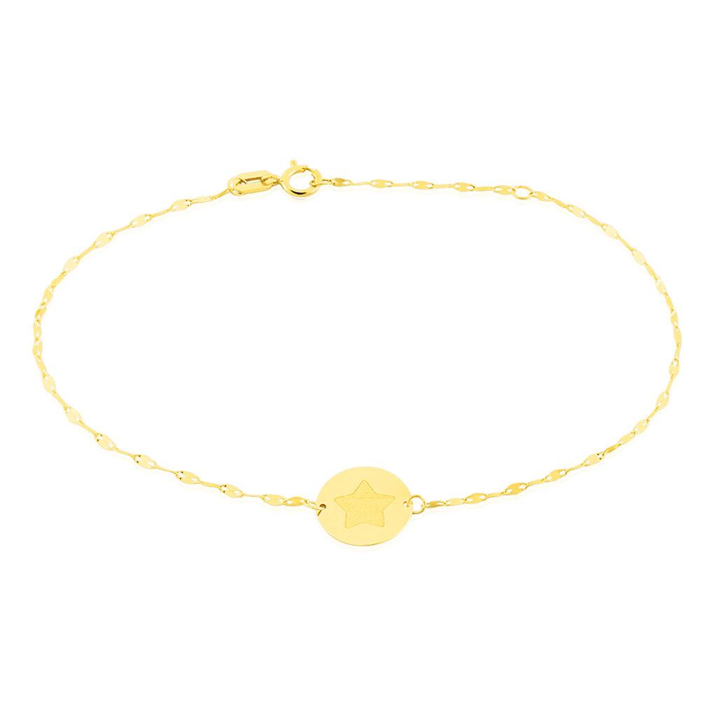 Bracelet Elynna Etoile Or Jaune - Bijoux Etoile Femme   Histoire d'Or