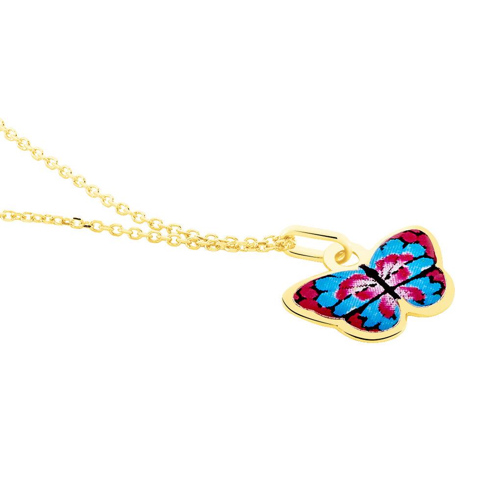 Collier Sulivia Papillon Or Jaune - Colliers Naissance Enfant | Histoire d'Or